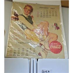 Vintage 1957 Coca Cola Calendar