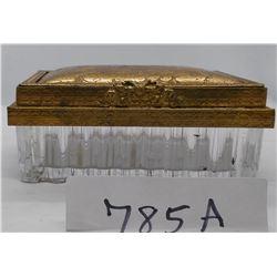 Ornate German Covered Jewelry Box
