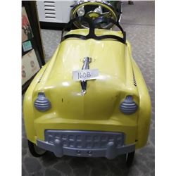 Early Reproduction Yellow Taxi Pedal Car