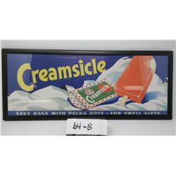 Original Creamsicle Paper Sign