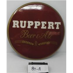 Round Original Ruppert Beer And Ale Celluloid Advertising Disc