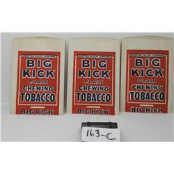 3 Paper Tobacco Packs Nos Big Kick Chewing Tobacco