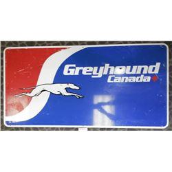 Original Tin Greyhound Bus Sign