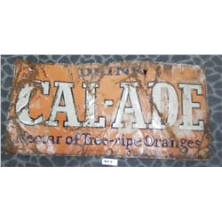 Cal-Aide Orange Soda Sign