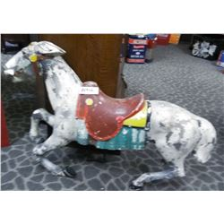 Aluminium Carousel Horse Original From PNE Missing A Foot