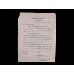 Oliver Howard Recommendation Letter circa 19th C.