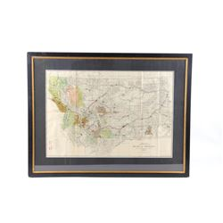 1911 Montana Hydro & Fuel Power Plants Map