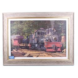James Finnell Original Framed Train Oil Painting