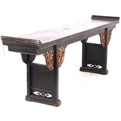 Chinese Painted Hardwood Altar Table c. Mid 1900's