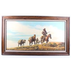 C. Rudney Western Trappers Original painting