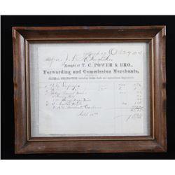 Fort Benton M. T. General Merchandise Ledger