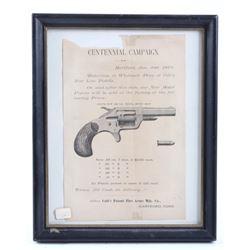 1876 Colt .22 Pistol Centennial Campaign Advert
