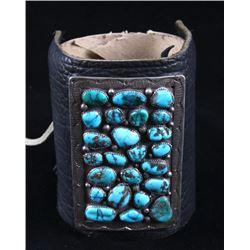 Navajo Kings Manassa Turquoise Leather Ketoh 1950s