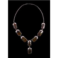 Navajo Turquoise Mountain Sterling Silver Necklace