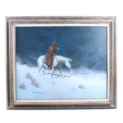 Original Michael Schreck Cowboy Oil Painting