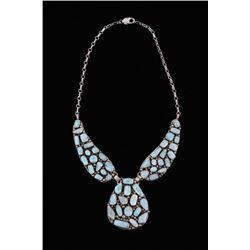 Navajo Betta Lee Larimar Sterling Silver Necklace