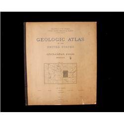 1894 Geological Atlas of Livingston, Montana