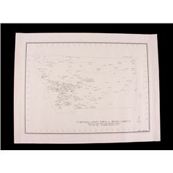 1998 Montana Ghost Towns & Mining Camps Map