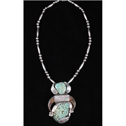 Navajo Number 8 Turquoise & Bear Claw Necklace