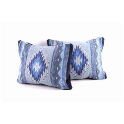 Night Stars Wool Set of Two Pillows by Gutierrez