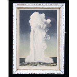 Early Frank Haynes Old Faithful Framed Print