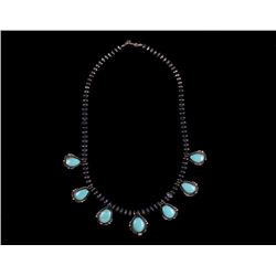 Armand American Horse Silver & Turquoise Necklace