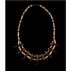 Sioux Grizzly Bear Claw & Bone Bead Necklace