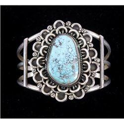 Navajo Sterling Kingman Turquoise Bracelet