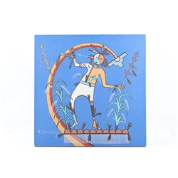 Hopi Dawatawa Kachina Dancer Original Painting