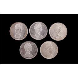 "Canadian ""Voyageurs"" Silver Dollars 1965 & 1966"