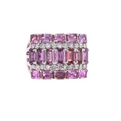 Rare Unheated Kashmir Pink Sapphire 18K Ring