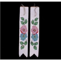 Crow Indian Fully Top Beaded Sash Panels c. 1900's