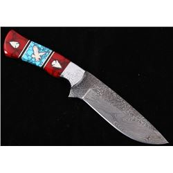 Navajo D. Yellowhorse Turquoise Arrow Eagle Knife