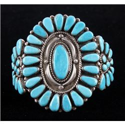 Navajo Signed Wilson Begay Sterling Stone Bracelet