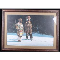 Hazen Alkire Montana Trappers Framed Print