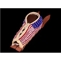 Choctaw Fully Beaded Toy Cradle Board c. 20th C