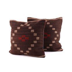Mesa Chocolate Wool Set of Two Pillows Gutierrez