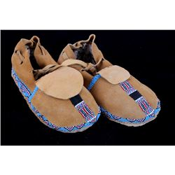Wind River Reservation, WY Beaded Moccasins