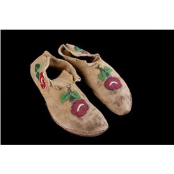 Crow Floral Beaded Moccasins c. 1890's