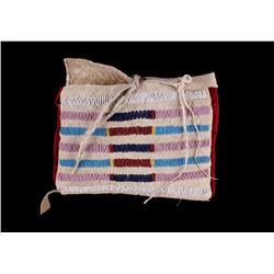 Crow Beaded Tipi Possible Bag c. 1900-1950