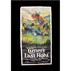 Large Custer's Last Fight Film Poster c.1922