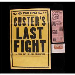 Custer's Last Fight Film Poster & Broadside c.1912