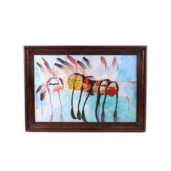 Original Whiteshield Framed Oil Painting c. 1970's