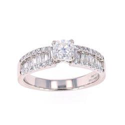 Art Deco Style Classic VS1 1.32ct Diamond Ring