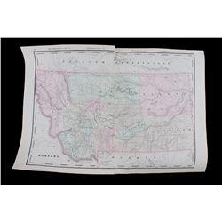 Montana & Yellowstone National Park Map c1902