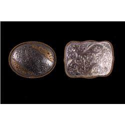 Montana Silversmiths Silver Plate & Bronze Buckles