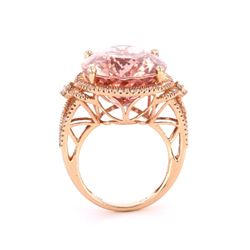 Morganite & Diamond 14k Rose Gold Ring