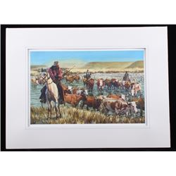 Jack Hines Western Cattle Drive Print