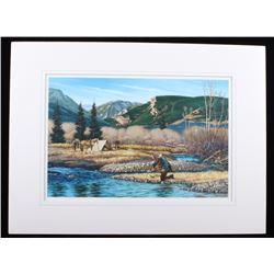 Jack Hines Montana Prospector Framed Print