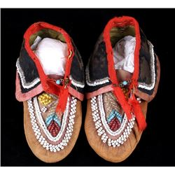 Early 1900's Native American Child Moccasins